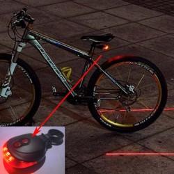 Cykellygte med 5 LED 2 Laser