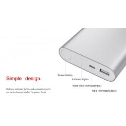 12000 mAh Soloplader Eksternt Batteri Powerbank til iPhone