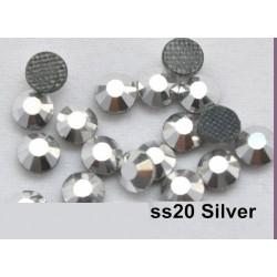 100 stk SS20 Silver Hotfix