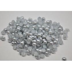 100 stk Halvperler Sølv 6 mm